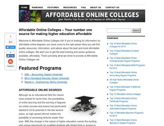 Main page screenshot of affordable-online-colleges.net