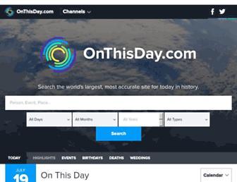 onthisday.com screenshot