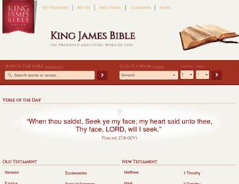kingjamesbibleonline.org screenshot