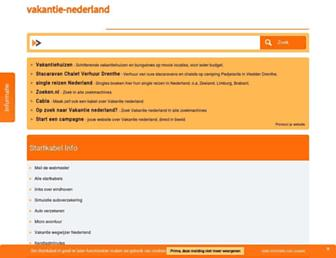 Main page screenshot of vakantie-nederland.startkabel.nl
