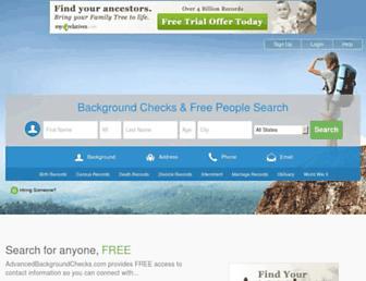 advancedbackgroundchecks.com screenshot