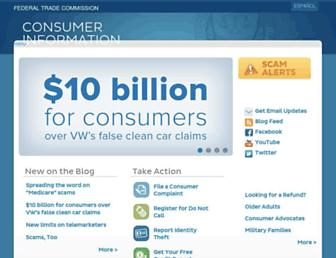 consumer.ftc.gov screenshot