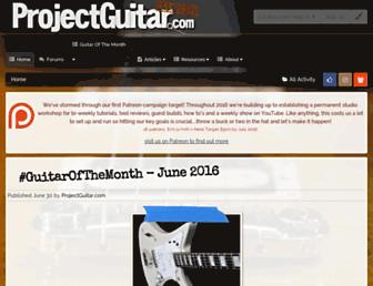 projectguitar.com screenshot