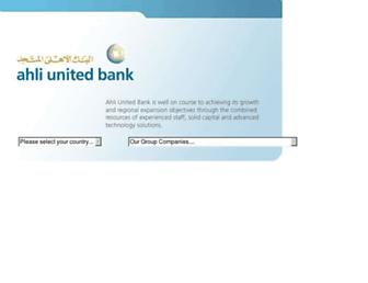 ahliunited.com screenshot