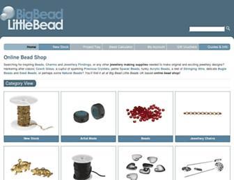 bigbeadlittlebead.com screenshot