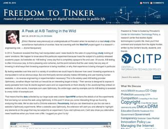 freedom-to-tinker.com screenshot
