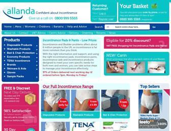 allaboutincontinence.co.uk screenshot