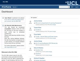 wiki.ucl.ac.uk screenshot