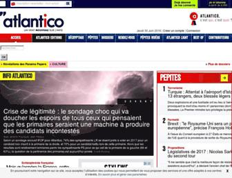 Main page screenshot of atlantico.fr