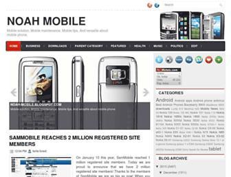 noah-mobile.blogspot.com screenshot