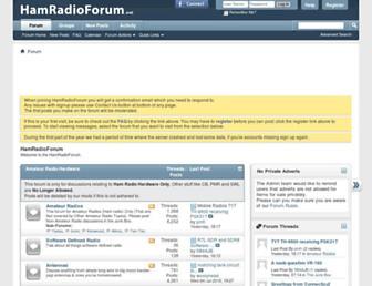 hamradioforum.net screenshot