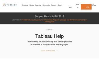 onlinehelp.tableau.com screenshot