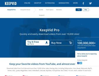 pro.keepvid.com screenshot