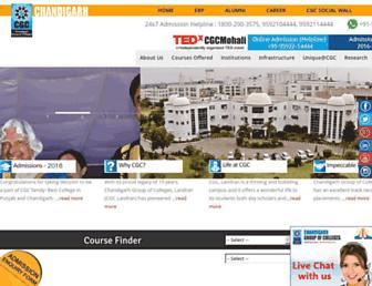 cgc.edu.in screenshot