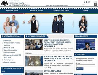customs.gov.md screenshot