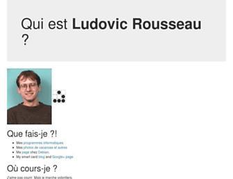 ludovic.rousseau.free.fr screenshot