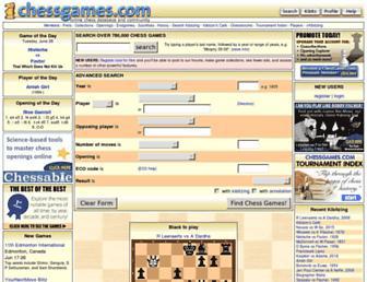 Thumbshot of Chessgames.com