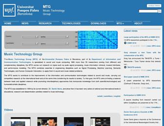 Main page screenshot of mtg.upf.edu