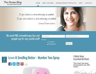 thearomablog.com screenshot