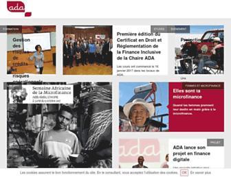 ada-microfinance.org screenshot