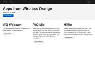 wirelessorange.com screenshot