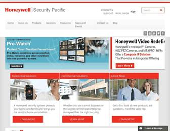 honeywellsecurity.com.au screenshot