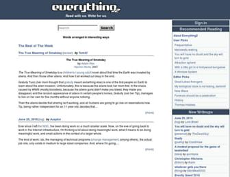everything2.com screenshot