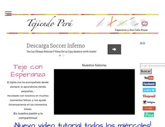 tejiendoperu.com screenshot