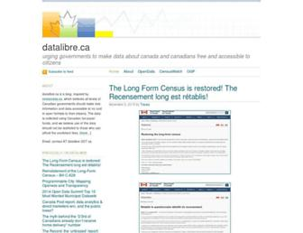 Main page screenshot of datalibre.ca
