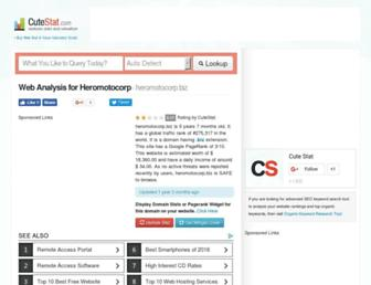 heromotocorp.biz.cutestat.com screenshot