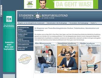 studieren-berufsbegleitend.de screenshot