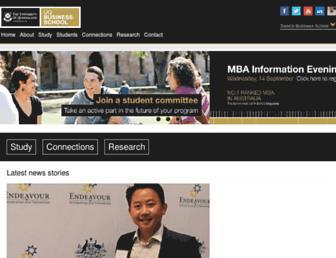 business.uq.edu.au screenshot