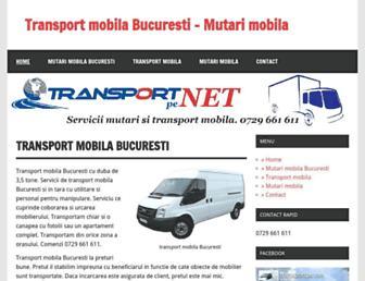 mobila.transportpe.net screenshot