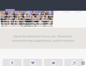 harborliteschorus.org screenshot