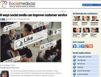 Main page screenshot of socialmedia.biz