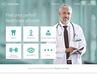opencare.com screenshot