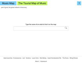 music-map.com screenshot