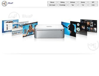 Main page screenshot of bluap.nl