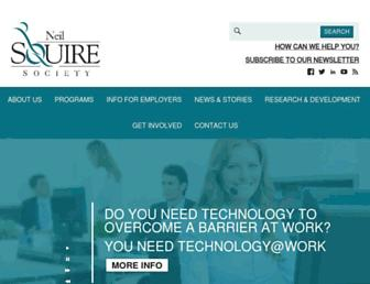 Main page screenshot of neilsquire.ca