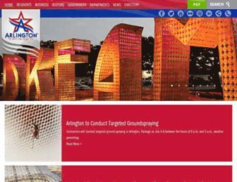 Main page screenshot of arlingtontx.gov