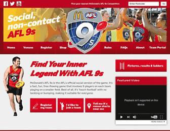 afl9s.com.au screenshot