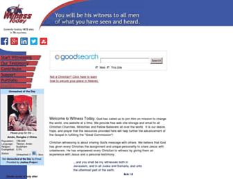 Main page screenshot of witnesstoday.org