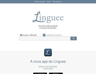 Main page screenshot of linguee.pt