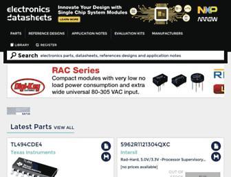 electronicsdatasheets.com screenshot
