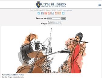 Main page screenshot of comune.torino.it