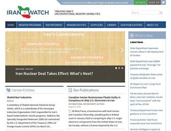 iranwatch.org screenshot