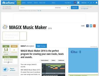 magix-music-maker.en.softonic.com screenshot