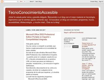 tecnoconocimientoaccesible.blogspot.com screenshot