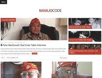 navajocodetalkers.org screenshot