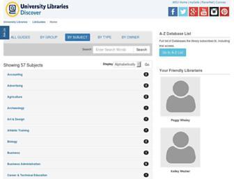 Main page screenshot of libguides.murraystate.edu